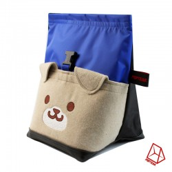 POF!ZAK Bouldering Chalk Bag DOG blue black