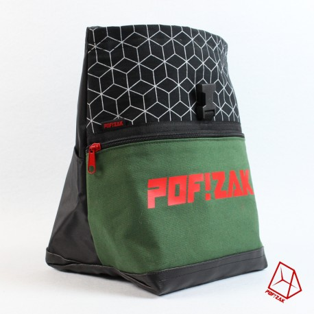 POF!ZAK Bouldering Chalk Bag Geo Black X33