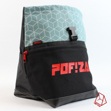 POF!ZAK Bouldering Chalk Bag Geo Mint X36