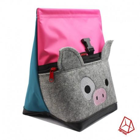 POF!ZAK PIG Bouldering Chalk Bag Pink / Cyan Blue