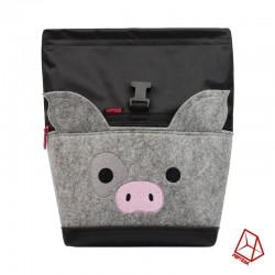 POF!ZAK Schwein Chalkbag für Bouldern | Magnesiumbeutel | Schwarz