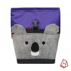 POF!ZAK Koala Boulder Pofzak paars / olijf groen