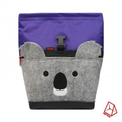 POF!ZAK Koala Bouldering Chalk Bag purple / olive green