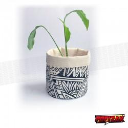 Fabric flower pot | Basket for plant BW JUNGLE