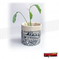 Stoffen bloempot   mand voor plant BW JUNGLE
