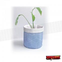 Stoffen bloempot   mand voor plant GEO blauw