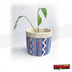 Stoffen bloempot   mand voor plant AZTEC