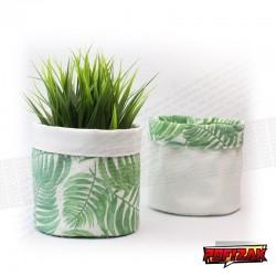 Fabric flower pot | Basket for plant BOTANICAL