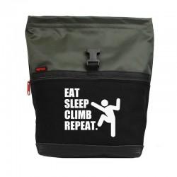 POF!ZAK Bouldering Chalk Bag  Eat Sleep Climb Repeat