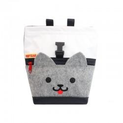 POF!ZAK Mini Boulder Chalk Bag Kitten White / Grey
