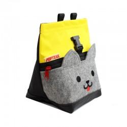 POF!ZAK Mini Boulder Pofzak Kitten Geel / Zwart