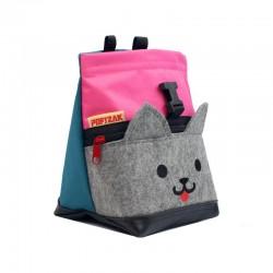 POF!ZAK Mini Boulder Chalk Bag Kitten Pink Cyan blue