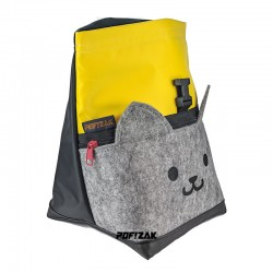 Cat Big Bouldering Chalk Bag Yellow & Black