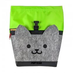 Cat Big Bouldering Chalk Bag Lime green