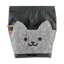 Cat Big Bouldering Chalk Bag Black