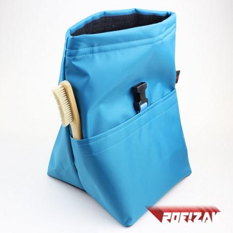 POF!ZAK Bouldering Chalk Bag MONO CYAN BLUE