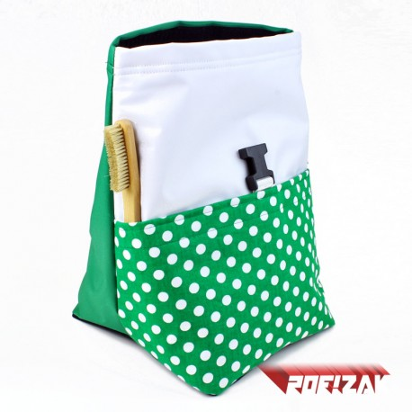 POF!ZAK Bouldering Chalk Bag POLKA GREEN