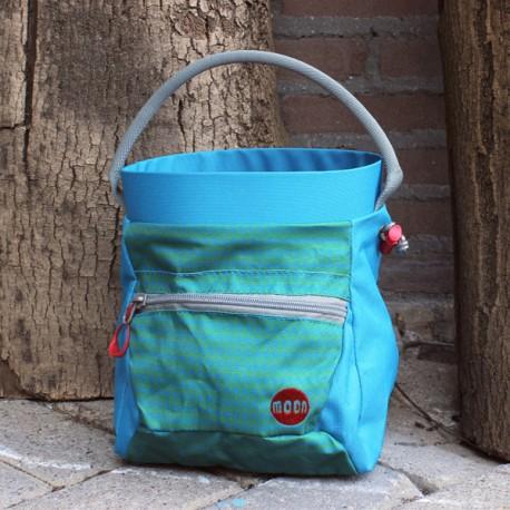 Moon Deluxe Bouldering Chalk Bucket Blue/Green S7
