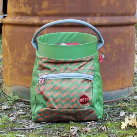 Moon Deluxe Bouldering Chalk Bucket Green/Orange Moon Print