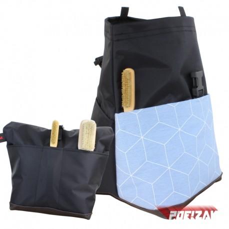 POF!ZAK Bouldering Chalk Bag GEOMETRIC BLUE NEW
