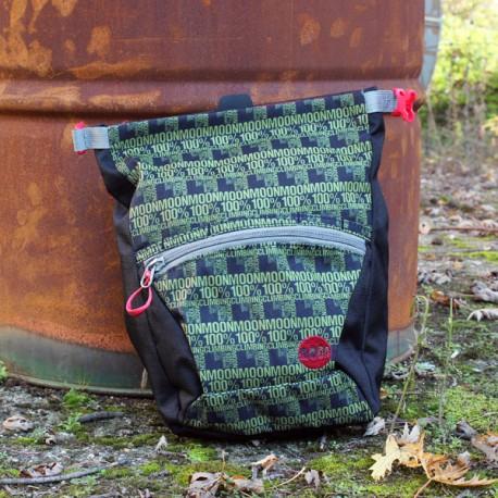 Moon Bouldering Chalk Bag Black/Green 100%
