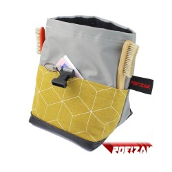 POF!ZAK Junior Boulder Chalk Bag Geometric Mustard yellow