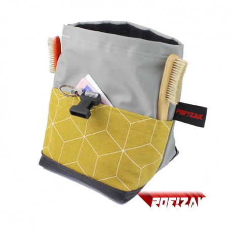 POF!ZAK Junior Boulder Chalk Bag Geometric Mustard yellow