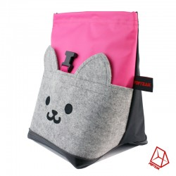 POF!ZAK Bouldering Chalk Bag CAT Pink / Black