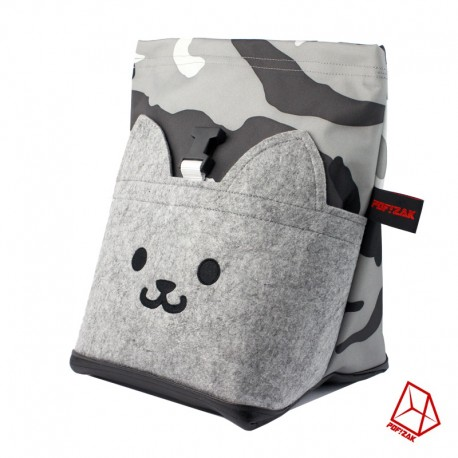 POF!ZAK Bouldering Chalk Bag CAT Camo Grey