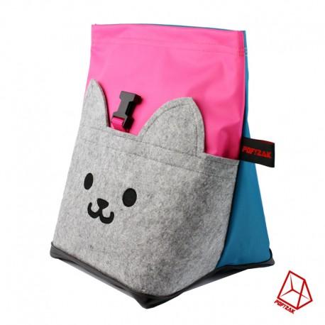 POF!ZAK Bouldering Chalk Bag CAT Pink / Cyan blue