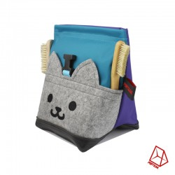 POF!ZAK Junior Boulder Kitten Chalk Bag Blue Purple