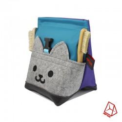 POF!ZAK Junior Boulder Kitten Chalk Bag Blue Purple